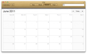 iCal with horrible leather effect